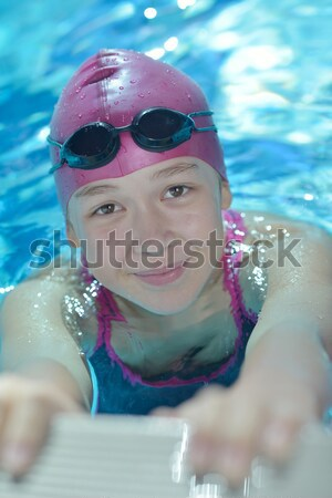 happy childrens at swimming pool Stock photo © dotshock
