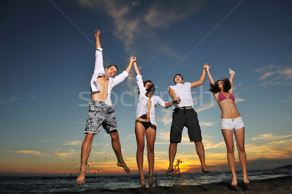 Stock photo: beach party