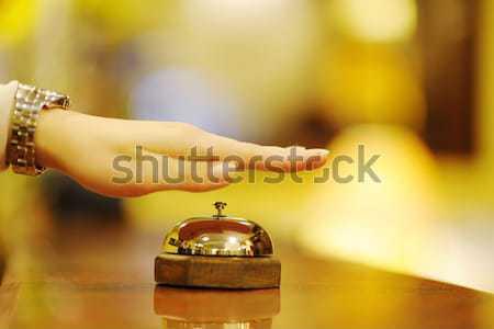 отель при деловой женщины женщину девушки улыбка Сток-фото © dotshock