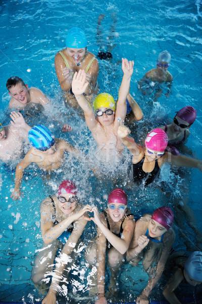 happy childrens at swimming pool Stock photo © dotshock