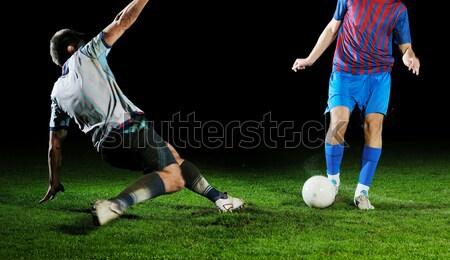 футбола действий мяча конкуренция запустить Сток-фото © dotshock