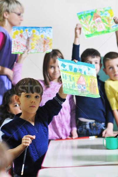 çocuklar mutlu çocuk grup eğlence Stok fotoğraf © dotshock