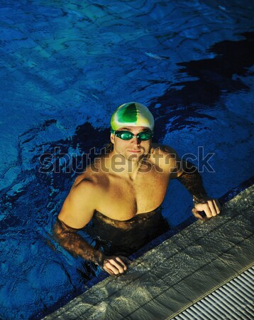 плаванию гонка победителем выиграть два человека Сток-фото © dotshock