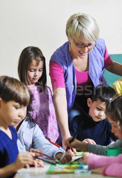 Crianças feliz criança grupo diversão Foto stock © dotshock