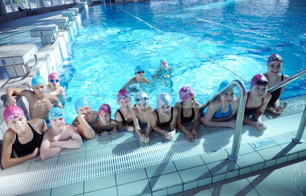 Feliz crianças grupo piscina crianças classe Foto stock © dotshock