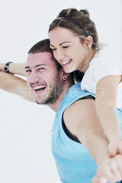 Foto d'archivio: Felice · fitness · allenamento · divertimento · sport