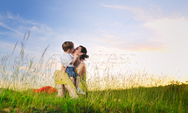 woman child outdoor Stock photo © dotshock