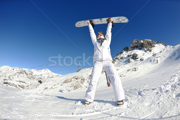 joy of winter season Stock photo © dotshock