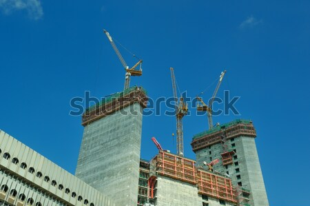 Construction site with crane Stock photo © dotshock