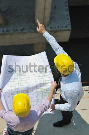 Stock photo: architect on construction site