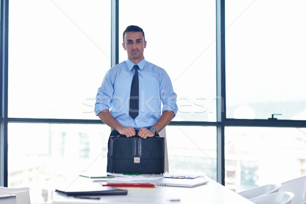 business man waiting for meeting to begin in Board room Stock photo © dotshock