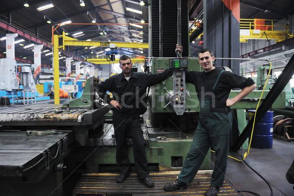 industry workers people in factory Stock photo © dotshock
