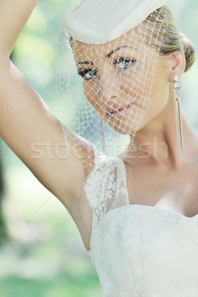 Belo noiva ao ar livre mulher pessoas moda Foto stock © dotshock