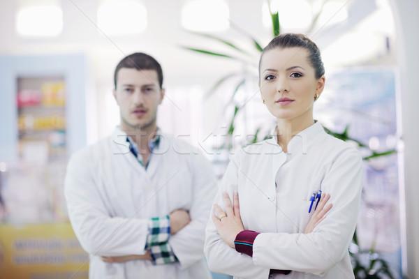 Apteki apteka ludzi zespołu farmaceuta chemik Zdjęcia stock © dotshock