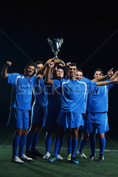 soccer players celebrating victory Stock photo © dotshock