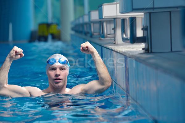 Nuotatore atleta salute fitness stile di vita giovani Foto d'archivio © dotshock