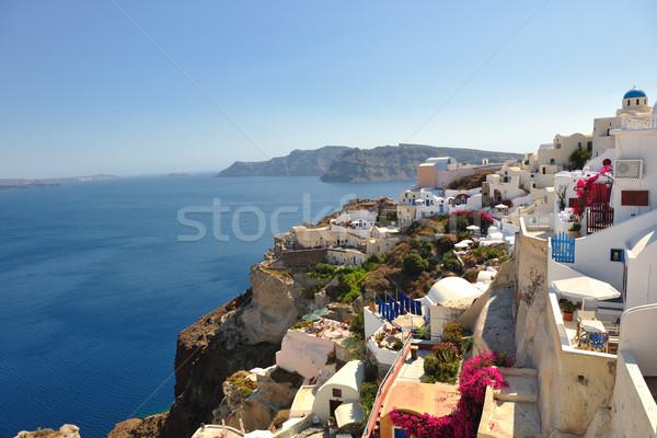 Grèce santorin vacances d'été belle île maison Photo stock © dotshock