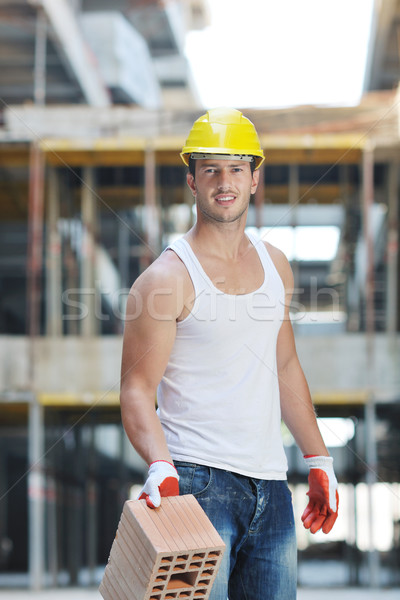 hard worker on construction site Stock photo © dotshock
