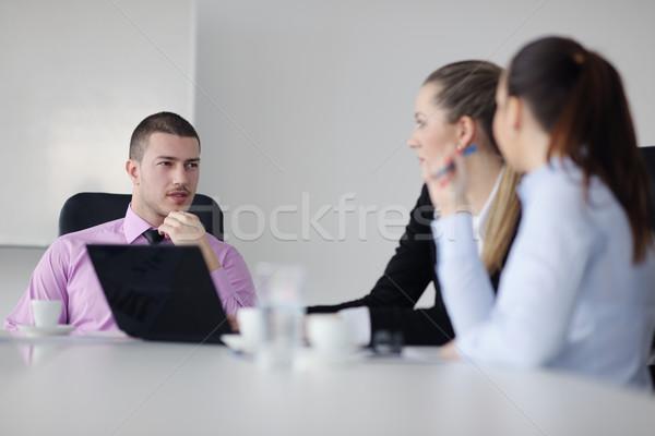 Pessoas de negócios grupo reunião equipe luz moderno Foto stock © dotshock