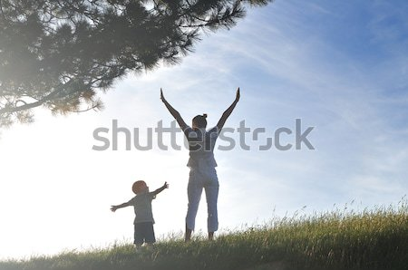 Stock photo: woman child outdoor