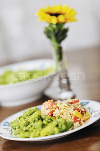 時間 健康 ベジタリアン 野菜 コメ ストックフォト © dotshock