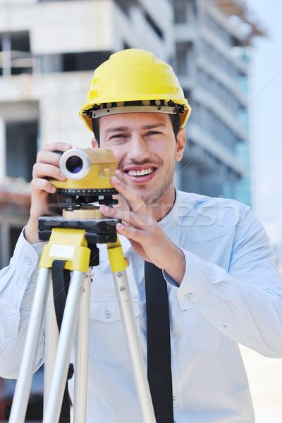Architekt Baustelle Geschäftsmann Ingenieur Manager Projekt Stock foto © dotshock