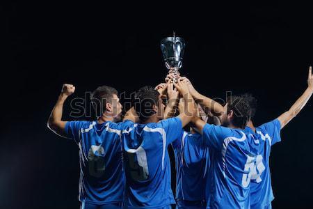 soccer players celebrating victory Stock photo © dotshock
