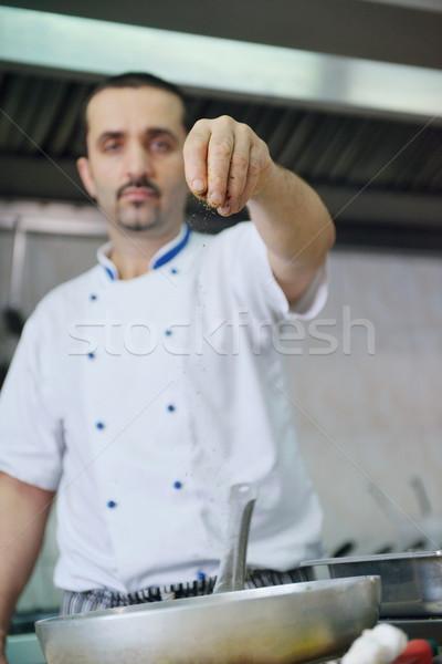 chef preparing food Stock photo © dotshock