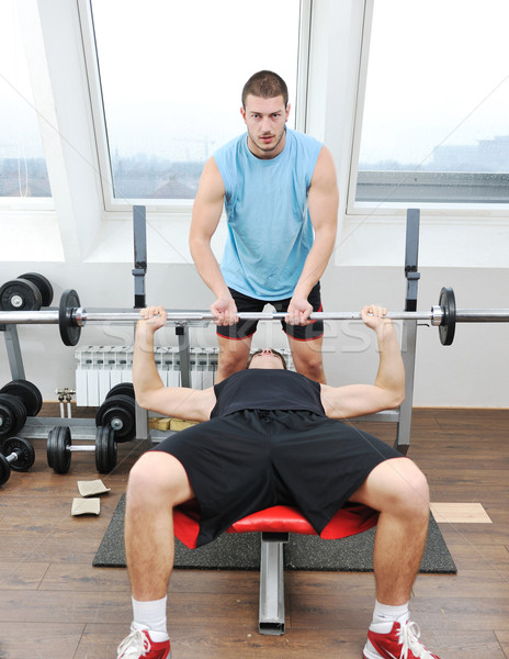 man fitness workout Stock photo © dotshock
