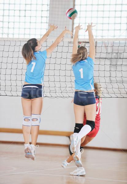 Ninas jugando voleibol juego deporte Foto stock © dotshock