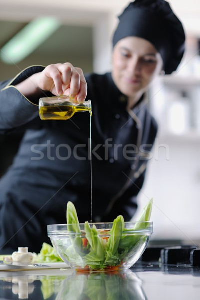 chef preparing meal Stock photo © dotshock
