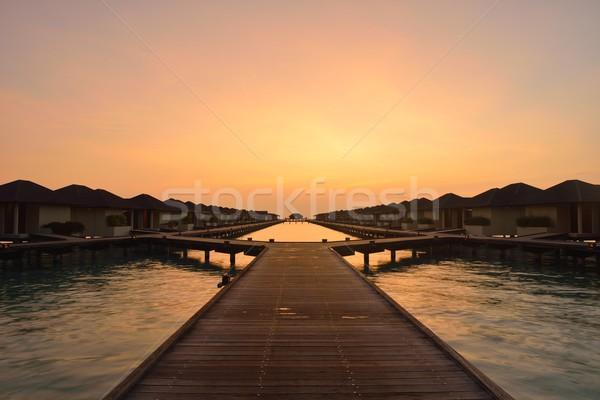 Tropikal su ev başvurmak Maldivler ada Stok fotoğraf © dotshock