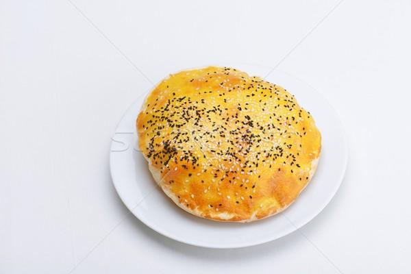 Turco pita caseiro tradicional refeição recheado Foto stock © dotshock