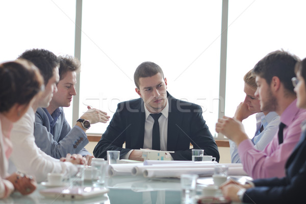 Stock photo: architect business team on meeting