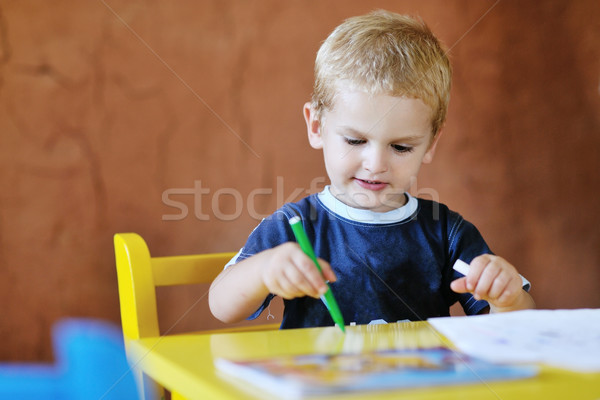 cute little child play and have fun Stock photo © dotshock