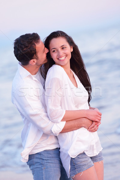 young couple  on beach have fun Stock photo © dotshock