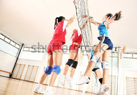 Meninas jogar voleibol jogo esportes Foto stock © dotshock