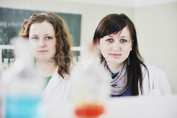 Stock photo: people group in lab