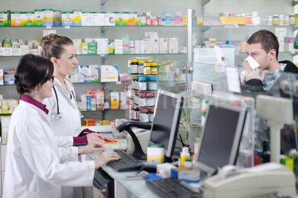 фармацевт медицинской наркотиков покупатель аптека аптека Сток-фото © dotshock