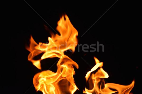Feu flamme flammes design résumé lumière Photo stock © dotshock