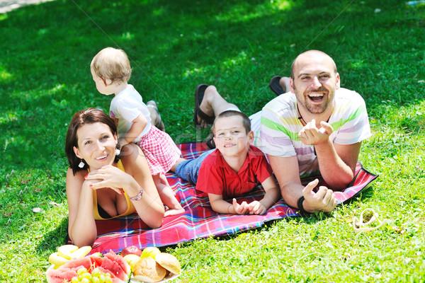 Foto d'archivio: Felice · bambini · divertimento · parco · bella