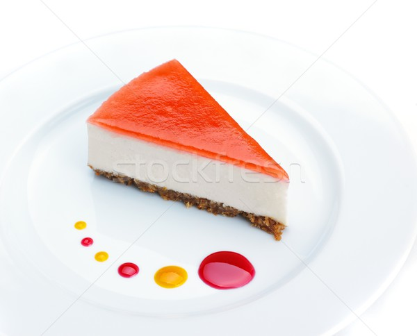 チーズケーキ イチゴ 孤立した 白 食品 パーティ ストックフォト © dotshock