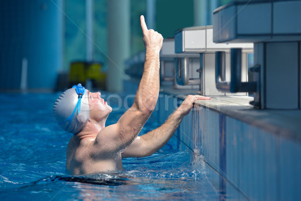 Pływak sportowiec zdrowia fitness życia młodych Zdjęcia stock © dotshock