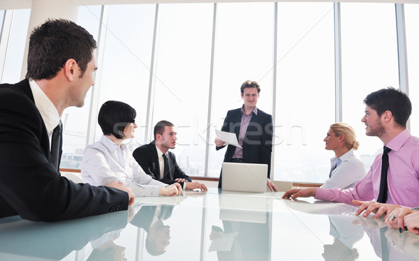 group of business people at meeting Stock photo © dotshock