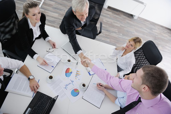 Stock photo: business people team on meeting