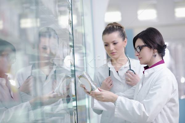 Zdjęcia stock: Zespołu · farmaceuta · chemik · kobieta · apteki · apteka