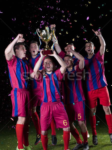 Futebol jogadores vitória equipe grupo Foto stock © dotshock