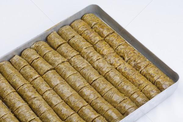 Turks dessert traditioneel midden oosten heerlijk geïsoleerd Stockfoto © dotshock