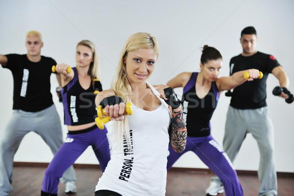Fitness groupe jeunes saine personnes exercice Photo stock © dotshock