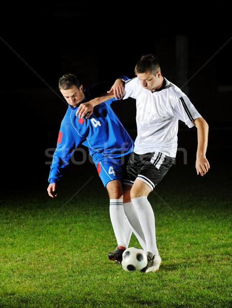 Fútbol jugadores acción pelota competencia ejecutar Foto stock © dotshock